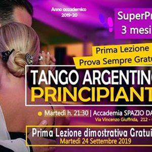 Corso Principianti Tango Argentino a Catania dal 2409