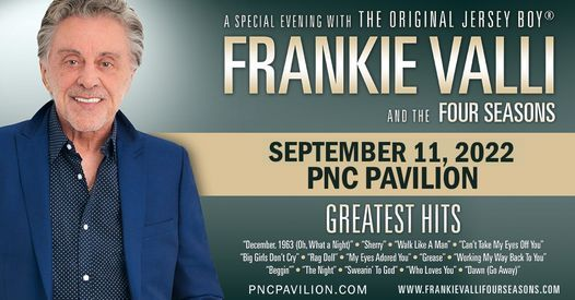 Frankie Valli & The Four Seasons, 10 September   Event in Newport   AllEvents.in