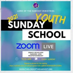 ZOOM Youth Sunday School 2021
