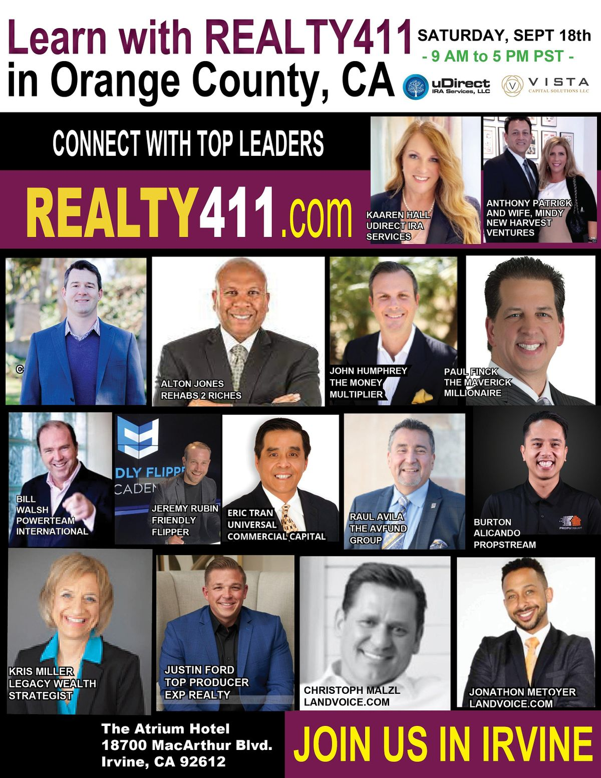 Realty411's Real Estate Investor Summit - Learn to Invest LIVE in Irvine | Event in Irvine | AllEvents.in