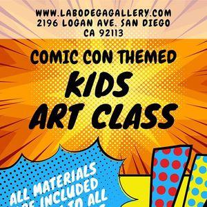 Kids Art Class- Comic Con Themed