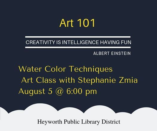 Art 101: Water Color Techniques at Heyworth Public Library