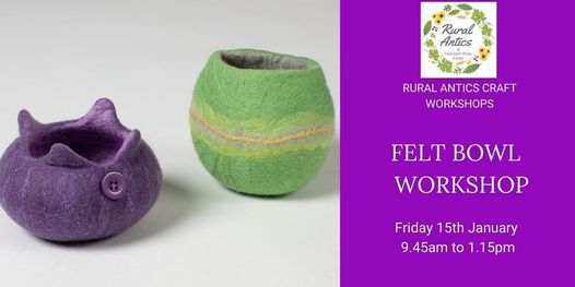 Felt Bowl Workshop, 15 January   Event in Melton Mowbray   AllEvents.in