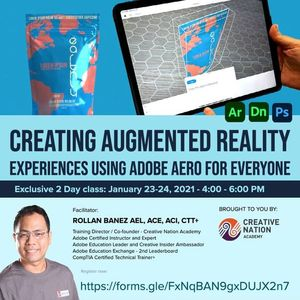 Creating AR Experiences using Adobe Aero for Everyone