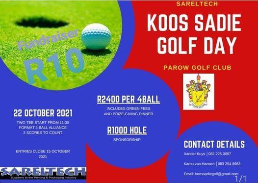 Koos Sadie Golf Day, 22 October   Event in Parow   AllEvents.in