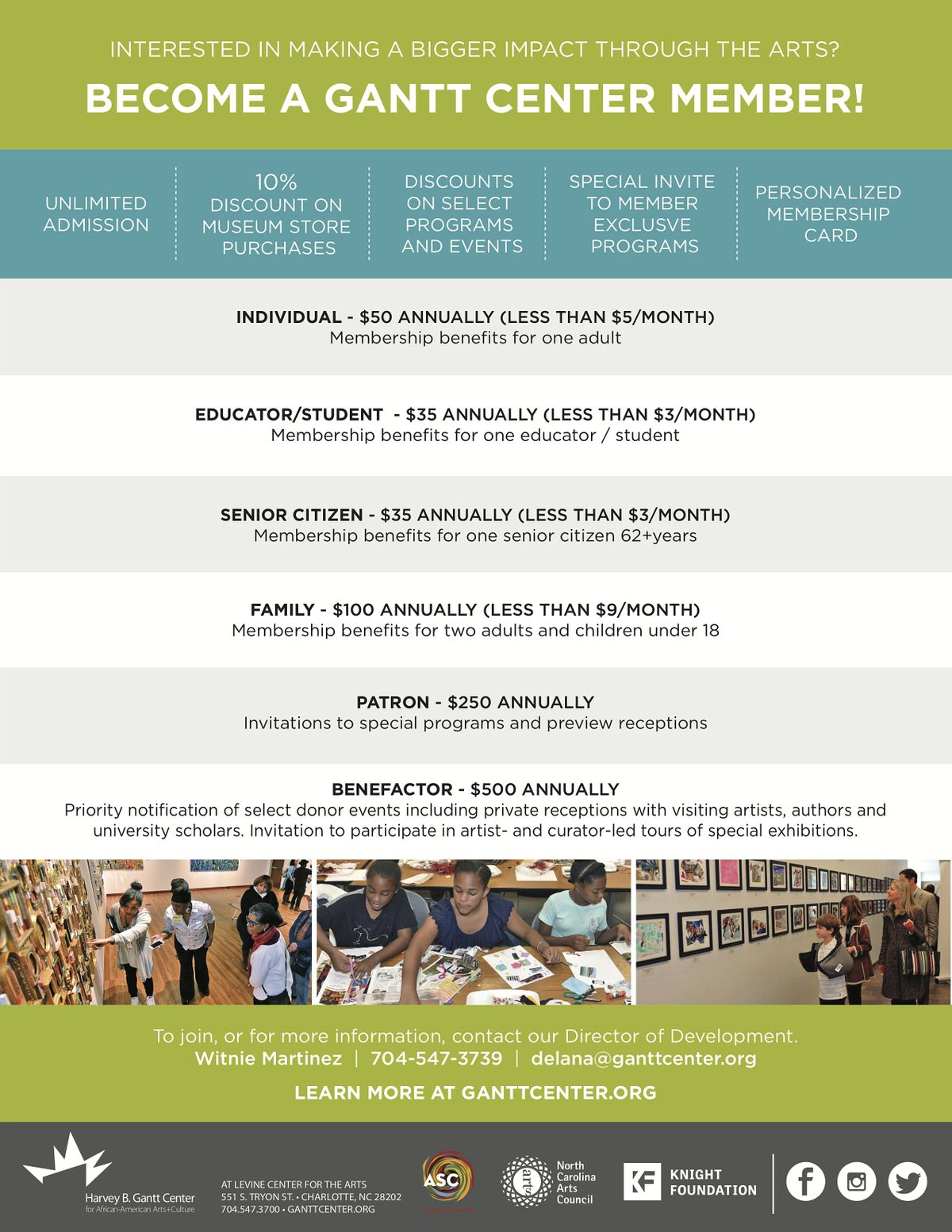 Harvey B. Gantt Center for African-American Arts+Culture: Become a Member! | Event in Charlotte | AllEvents.in