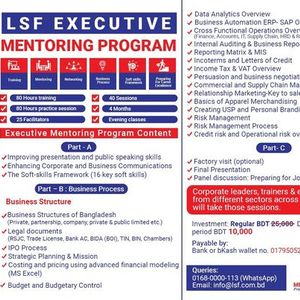 Executive Mentoring program- A four months exclusive training and mentoring program for advancing your career to the next level