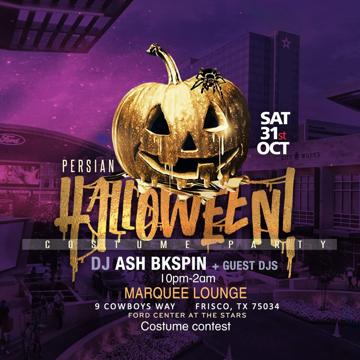 Dallas Texas Halloween Party Oct. 20th 2020 Persian Halloween Party In Dallas TX , Sat Oct 31 2020 at 07:00 pm