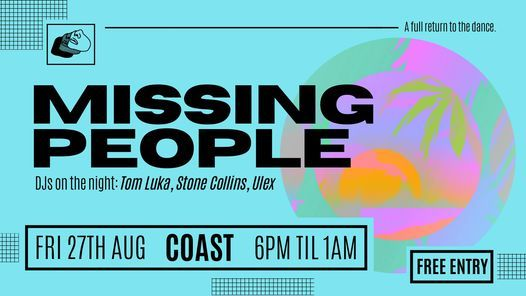Missing People @ COAST, 27 August   Event in Worthing   AllEvents.in