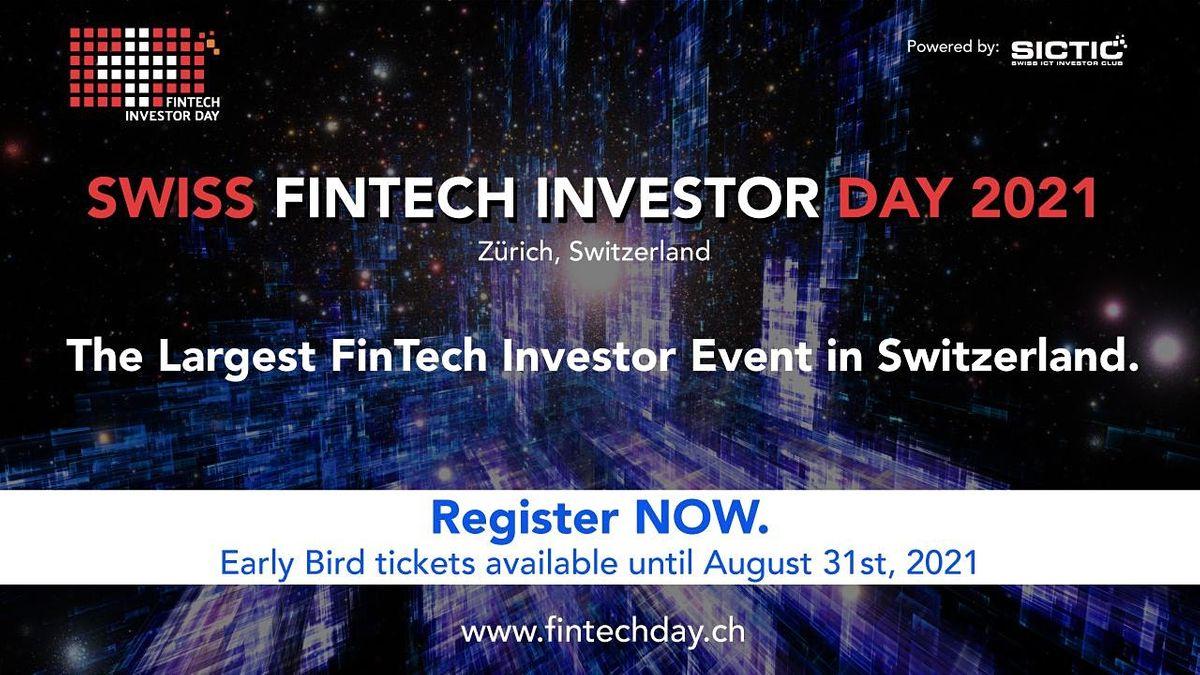 Swiss Fintech Investor Day 2021, 1 December   Event in Zurich   AllEvents.in