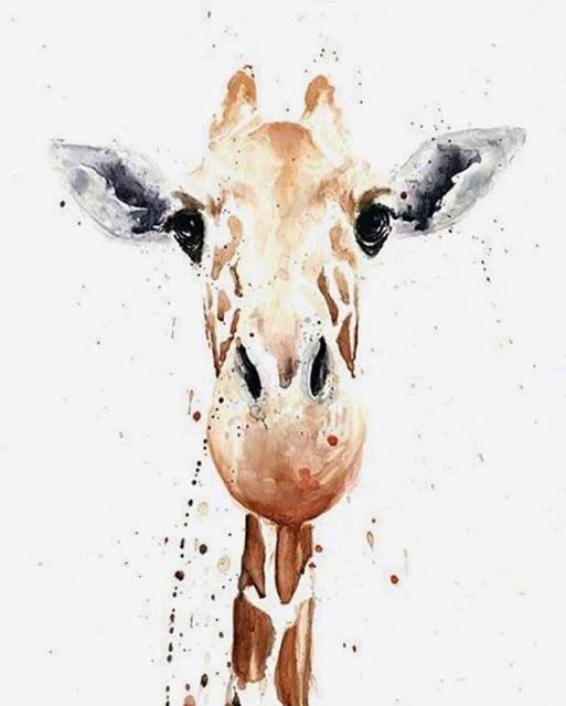 Gorgeous Giraffe Watercolour