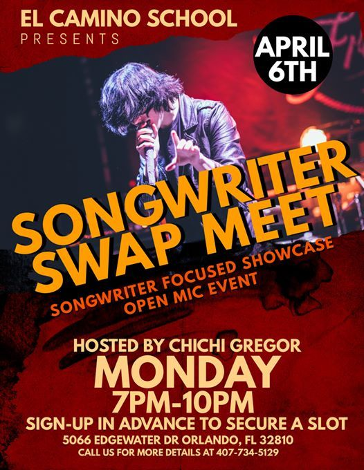 Songwriter SWAP MEET - Open Mic Event (6120)