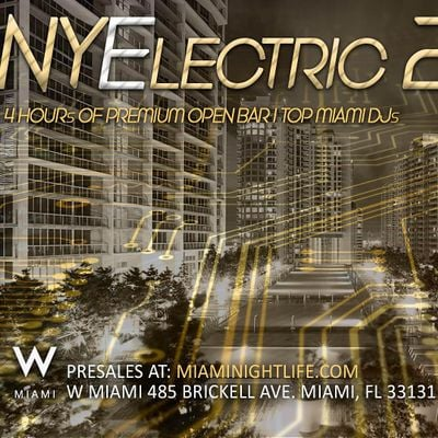 2022 W Hotel Miami New Years Eve Party