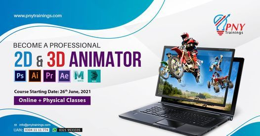 Become a Professional 2D & 3D Animator - 06 Months Course, 26 June | Event in Lahore | AllEvents.in