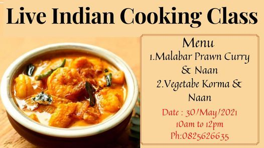 Live Indian Cooking Class, 30 May | Event in Randburg | AllEvents.in