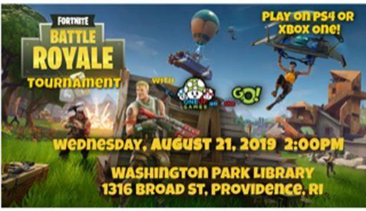 Fortnite Tournament at Washington Park Library, Providence