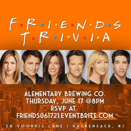 Friends Trivia   Event in Hackensack   AllEvents.in