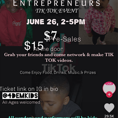Lil Entrepreneur Tik Tok Event