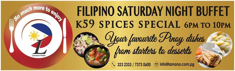 Filipino Saturday Night buffet