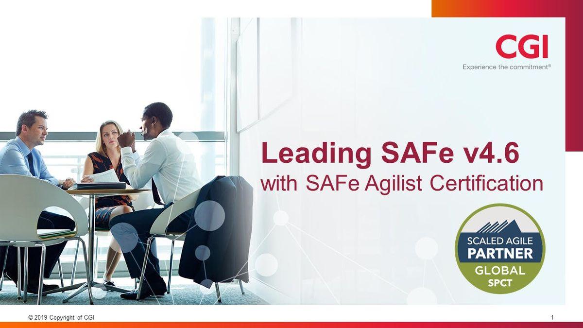 Leading SAFe 4.6 with SAFe Agilist Certification