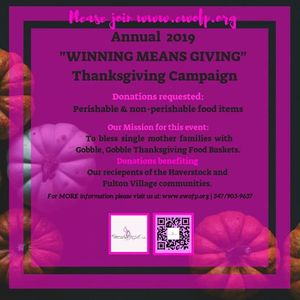 "5th Annual &quotWinning Means Giving"" Thanksgiving Campaign"