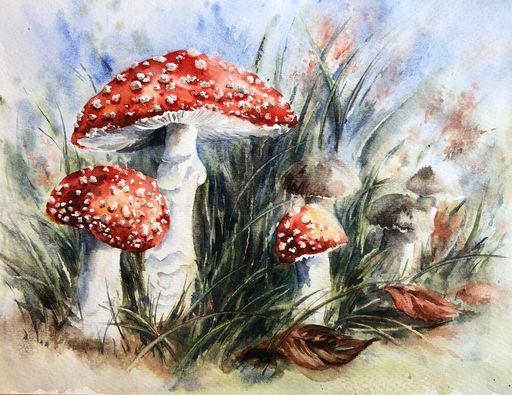 Colourful Toadstools Watercolour Painting (half-day workshop) £49.00, 25 October   Event in Louth   AllEvents.in