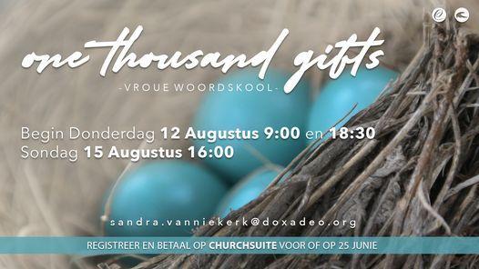 Cherish Woordskool | One Thousand Gifts by Ann Voskamp, 12 August | Event in Atteridgeville | AllEvents.in