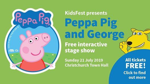 Peppa Pig And George Free Interactive Stage Show At Christchurch