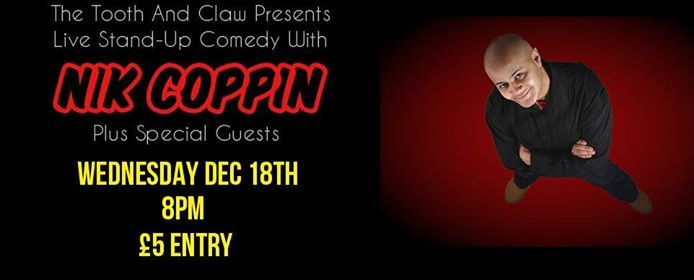 Live Stand-Up Comedy with Nik Coppin Plus Guests