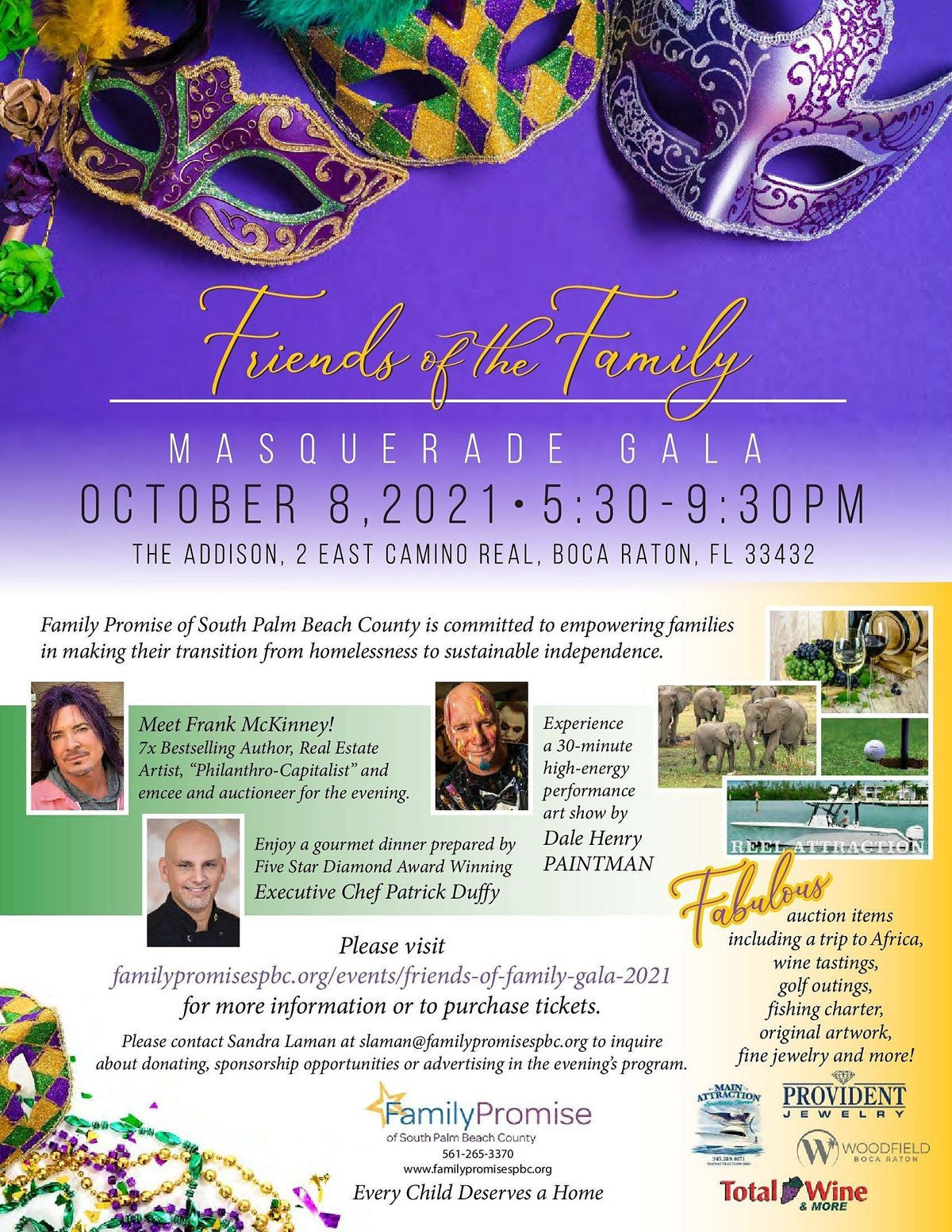 Friends of the Family Masquerade Gala, 8 October | Event in Boca Raton | AllEvents.in