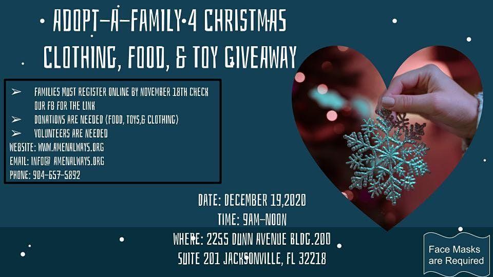Adopt A Family 4 Christmas, Amen Always Church, Jacksonville, 19