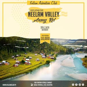 3 Days Autumn tour to Neelum Valley - Arang Kel on 16th Oct
