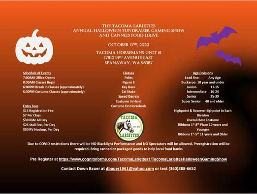 Halloween Events Tacoma 2020 Lariettes Halloween Game Show, Tacoma Unit Horseman's Arena