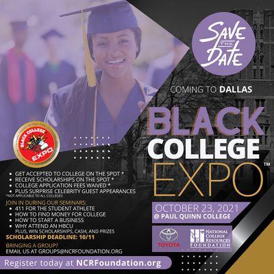 Back LIVE in PERSON 4th Annual Dallas Black College Expo