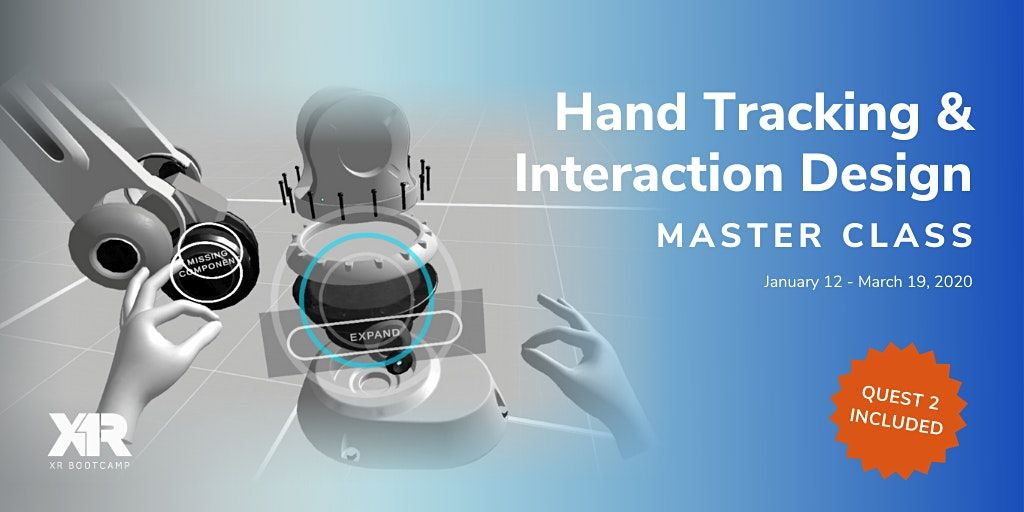 Hand Tracking and Interaction Design Master Class | Online Event | AllEvents.in