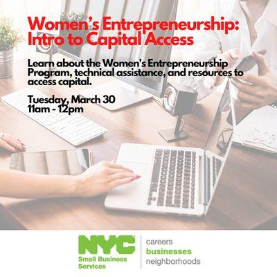 Womens Entrepreneurship Program-Introduction to Capital Access 3302021