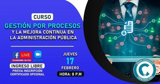Curso Gratuito: Gestión por Procesos y la Mejora Continua en la administración pública, 5 October   AllEvents.in