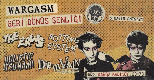 Wargasm Geri Dönüş Şenliği, 6 November | Event in Istanbul | AllEvents.in