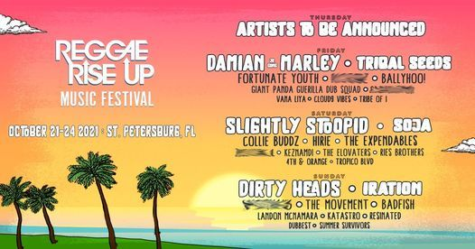 Reggae Rise Up Florida Festival Live, 21 October | Event in Saint Petersburg | AllEvents.in