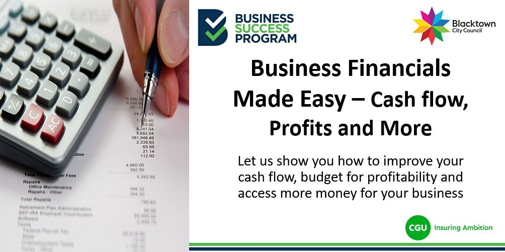 Business Financials Made Easy - Cash flow, Profits and More, 30 September   Event in Blacktown   AllEvents.in