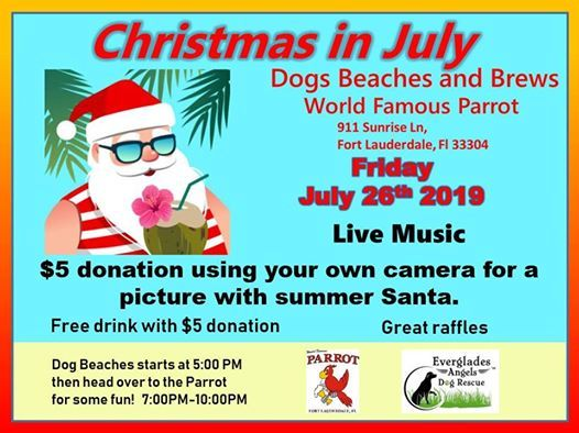 Christmas in July Dogs Beaches and Brews ! at World Famous