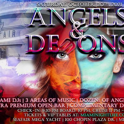 Miami Halloween Yacht Party  -  Angels & Demons