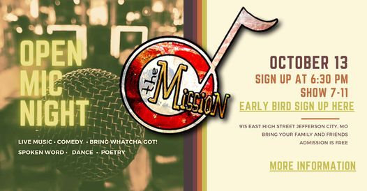 Open Mic Night @ The Mission | Event in Jefferson City | AllEvents.in