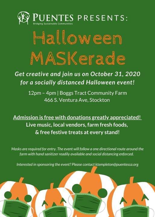 Ventura Halloween Events 2020 Halloween MASKerade Event, 466 S Ventura St, Stockton, CA 95203