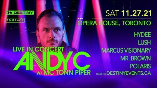 ANDY C w/ MC Tonn Piper - Saturday, November 27th, 27 November   Event in Toronto   AllEvents.in