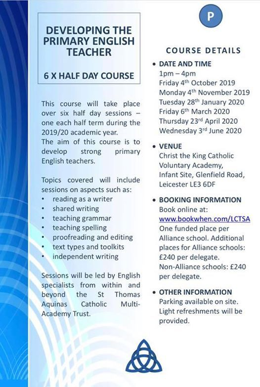 Developing the Primary English Teacher at Christ the King