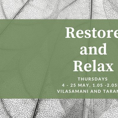 Restore and Relax Introduction to Mindfulness Meditation