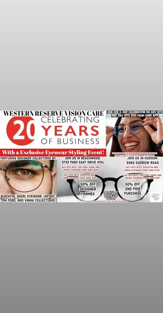 Time To Celebrate Western Reserve Vision Care 20 Yr Anniversary