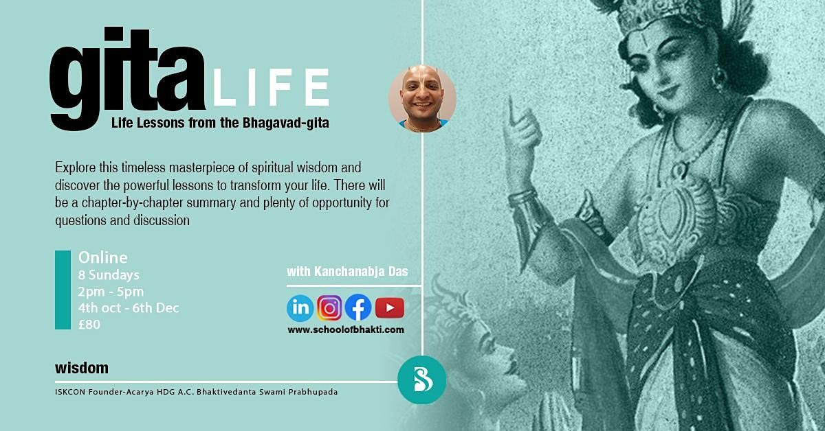 Gita Life - Life Lessons from the Bhagavad-Gita | Online Event | AllEvents.in