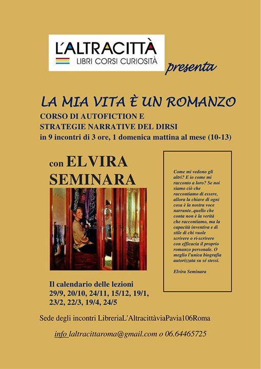 La mia vita  un romanzo. Autofiction con Elvira Seminara